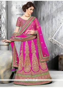 Invigorating Magenta Silk Lehenga Choli