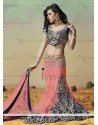 Pink Satin Bridal Lehenga Choli