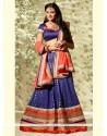 Fabulose Blue Banarasi Wedding Lehenga Choli