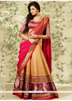 Beige Banarashi Designer Lehenga Choli