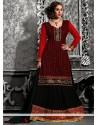 Black And Red Resham Work Lehenga Choli