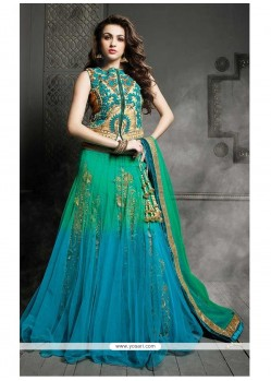 Glorious Multicolor Net Lehenga Choli