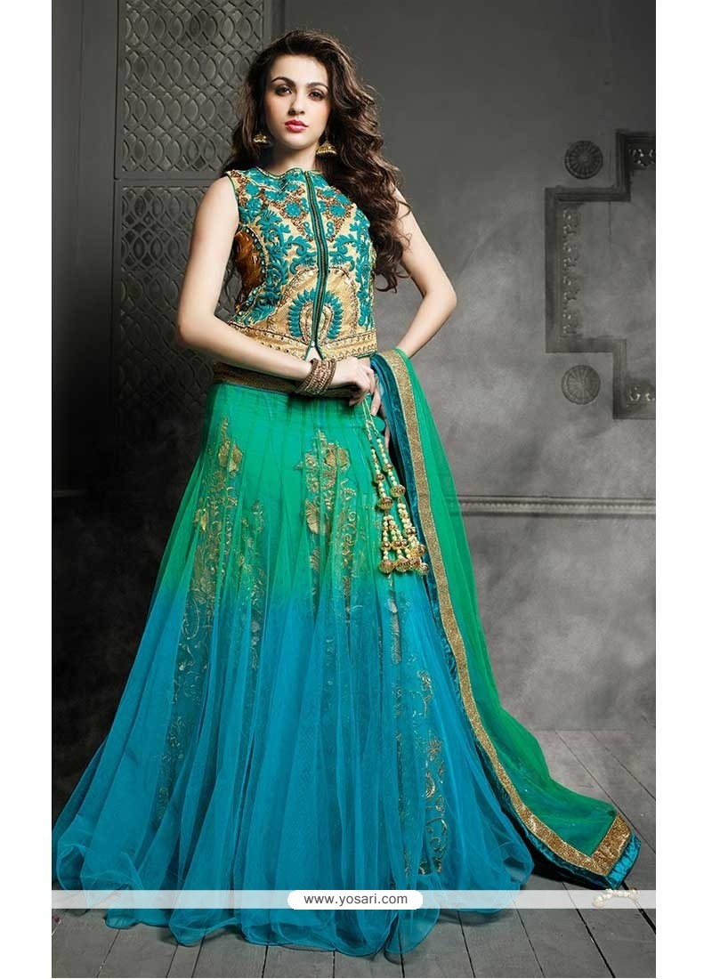 Glorious Multicolor Net Lehenga Choli
