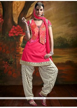 Aspiring Tafeta Silk Patch Border Work Readymade Suit