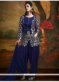 Riveting Banarasi Silk Readymade Suit