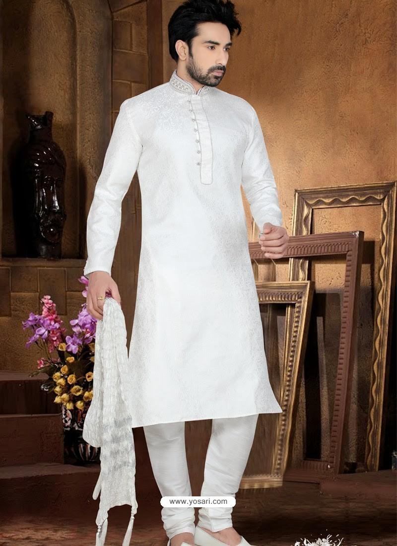 Buy Flawless Off White Wedding Kurta Pajama | Kurta Pajama