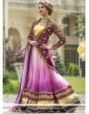 Magnificent Purple Net Lehenga Choli