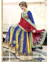 Invigorating Blue And Yellow Net Lehenga Choli