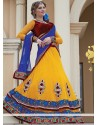 Incredible Yellow Velvet Lehenga Choli