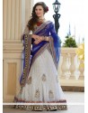 White Net And Georgette Lehenga Choli