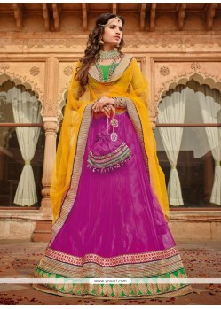 Gorgeous Magenta Net Designer Lehenga Choli