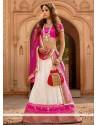 Lovely Off White Net Designer Lehenga Choli