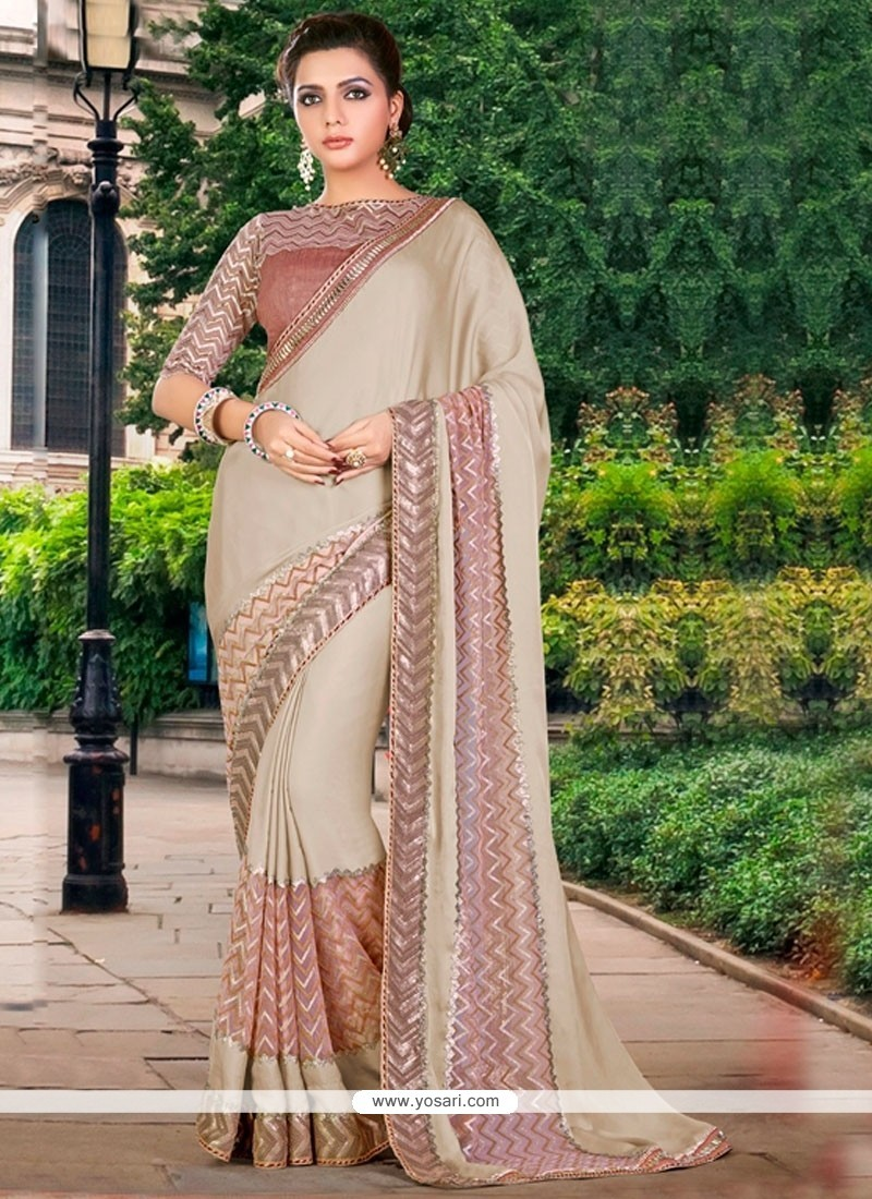Classical Beige Traditional Saree