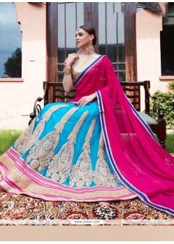 Angelic Hot Pink And Turquoise Lehenga Choli