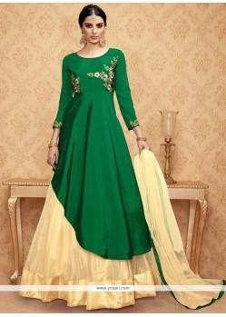 Green Embroidered Work Lehenga Choli