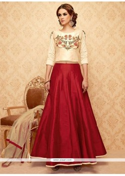 Sumptuous Banglori Silk Lace Work Lehenga Choli