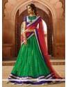 Marvelous Green Net Designer Lehenga Choli