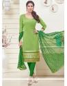 Mystic Jacquard Lace Work Churidar Designer Suit