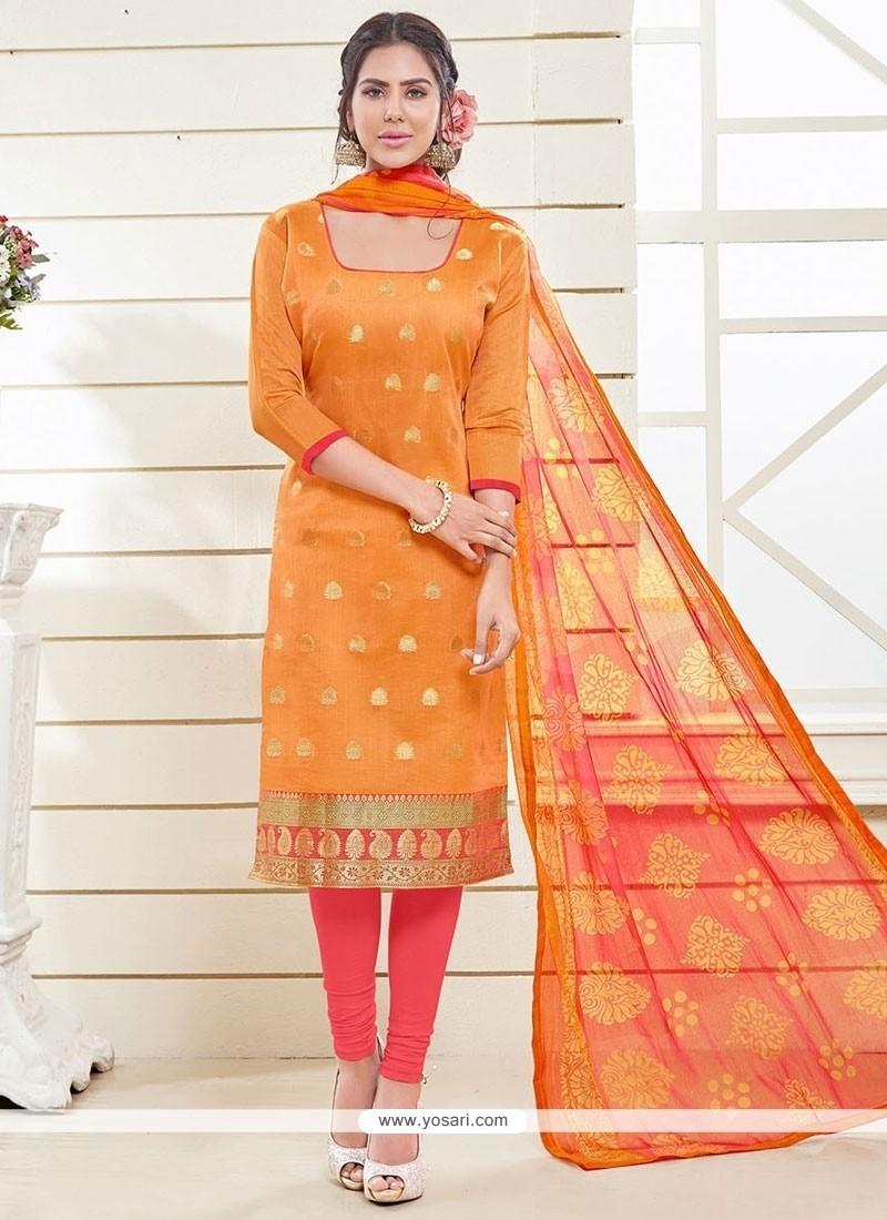 Demure Lace Work Churidar Designer Suit