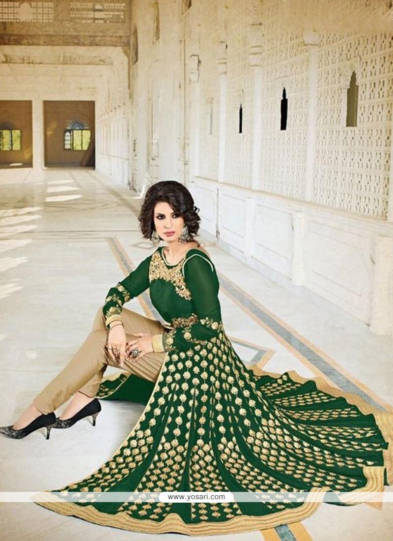 Prodigious Sequins Work Faux Georgette Designer Suit