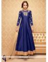 Breathtaking Lace Work Blue Anarkali Salwar Suit