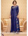 Intricate Banglori Silk Embroidered Work Designer Palazzo Suit