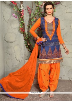 Suave Embroidered Work Punjabi Suit
