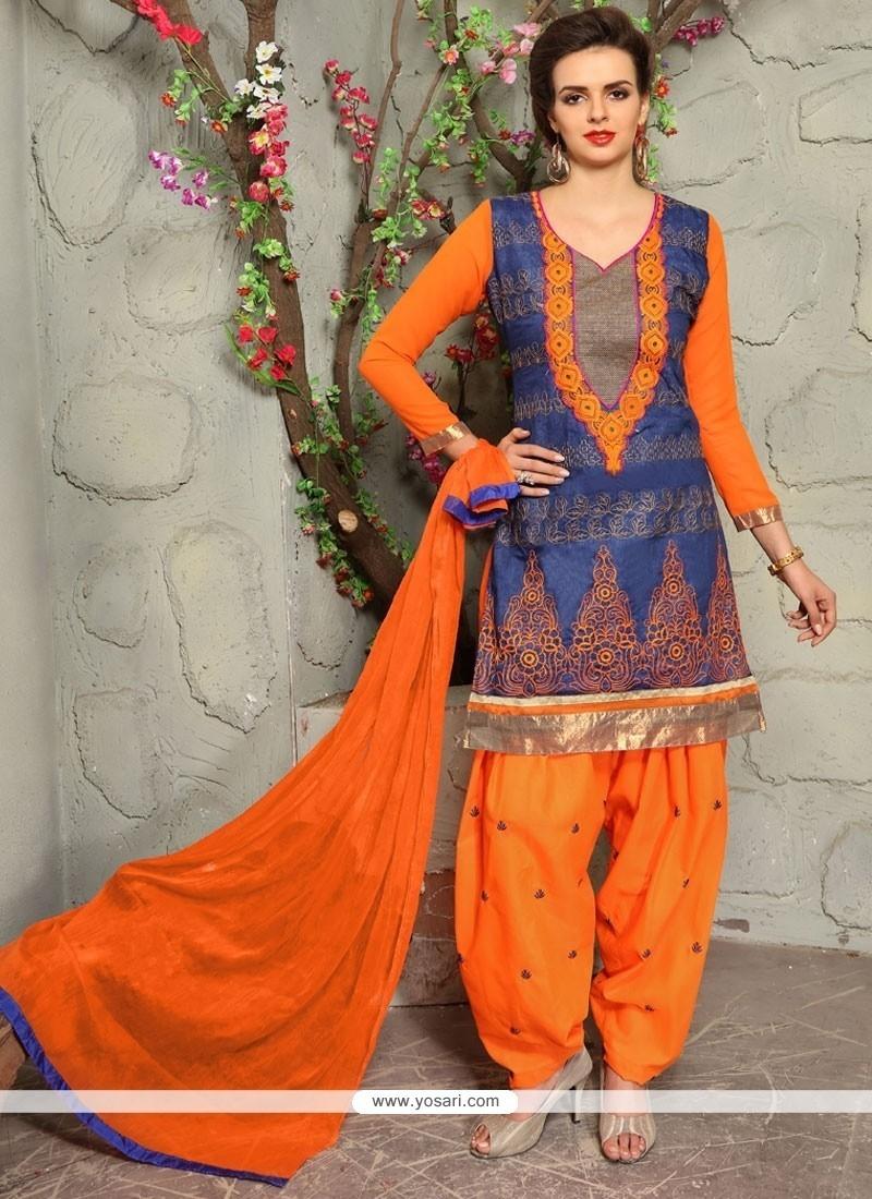 Suave Embroidered Work Punjabi Suit