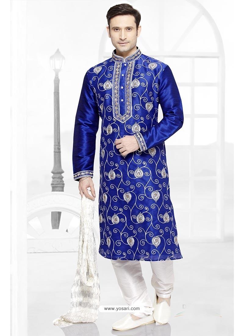 Groovy Blue Dhupion Kurta Pajama