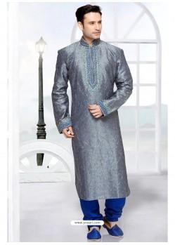 Genius Grey Jacqard Kurta Pajama