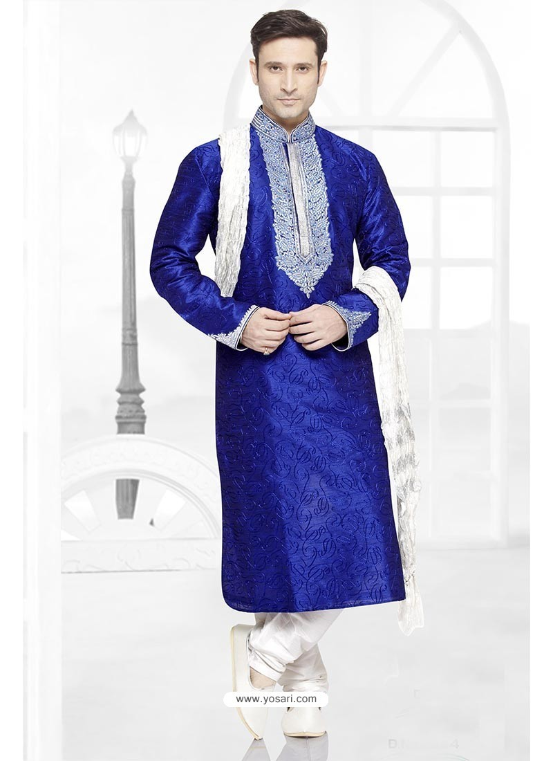 Astonishing Blue Party Wear Kurta Pajama
