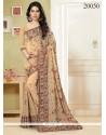 Flawless Beige Classic Designer Saree