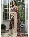 Astonishing Faux Georgette Multi Colour Printed Saree
