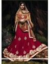 Mesmeric Maroon Net Wedding Lehenga Choli
