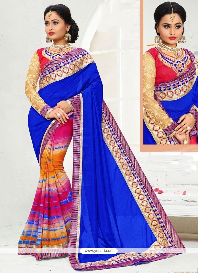 Delectable Art Silk Multi Colour Printed Saree