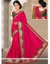 Fabulous Art Silk Magenta Traditional Saree