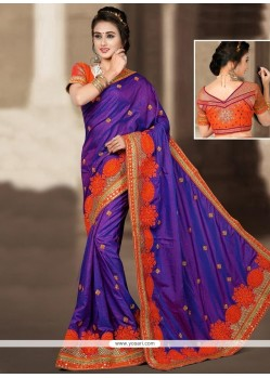 Stylish Blue Designer Traditional Saree