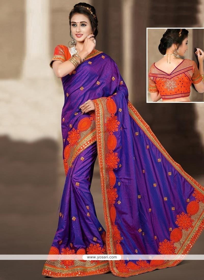 Stylish Blue Designer Traditional Saree