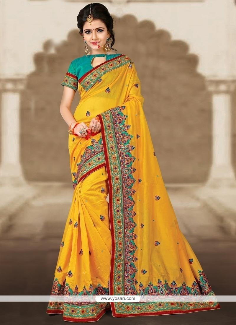 Majesty Zari Work Chanderi Classic Designer Saree