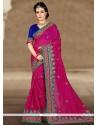 Lovely Chanderi Zari Work Classic Designer Saree