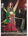 Markable Pink Net Wedding Lehenga Choli