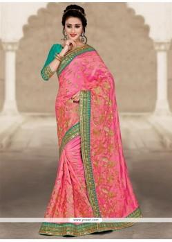 Fabulous Art Silk Embroidered Work Designer Traditional Saree