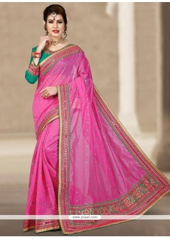 Cherubic Chanderi Resham Work Designer Traditional Saree
