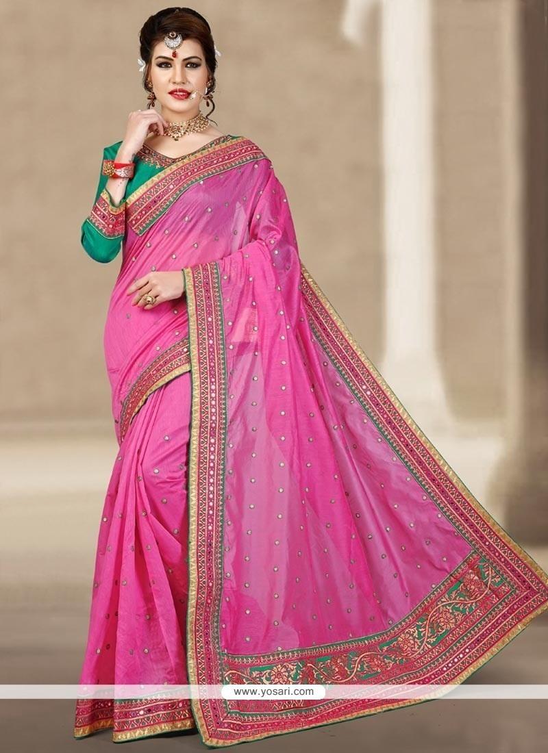 Cherubic Chanderi Resham Work Designer Traditional Saree