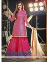 Magnificent Magenta Net Wedding Lehenga Choli