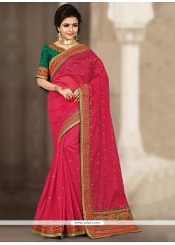 Remarkable Resham Work Traditional Saree