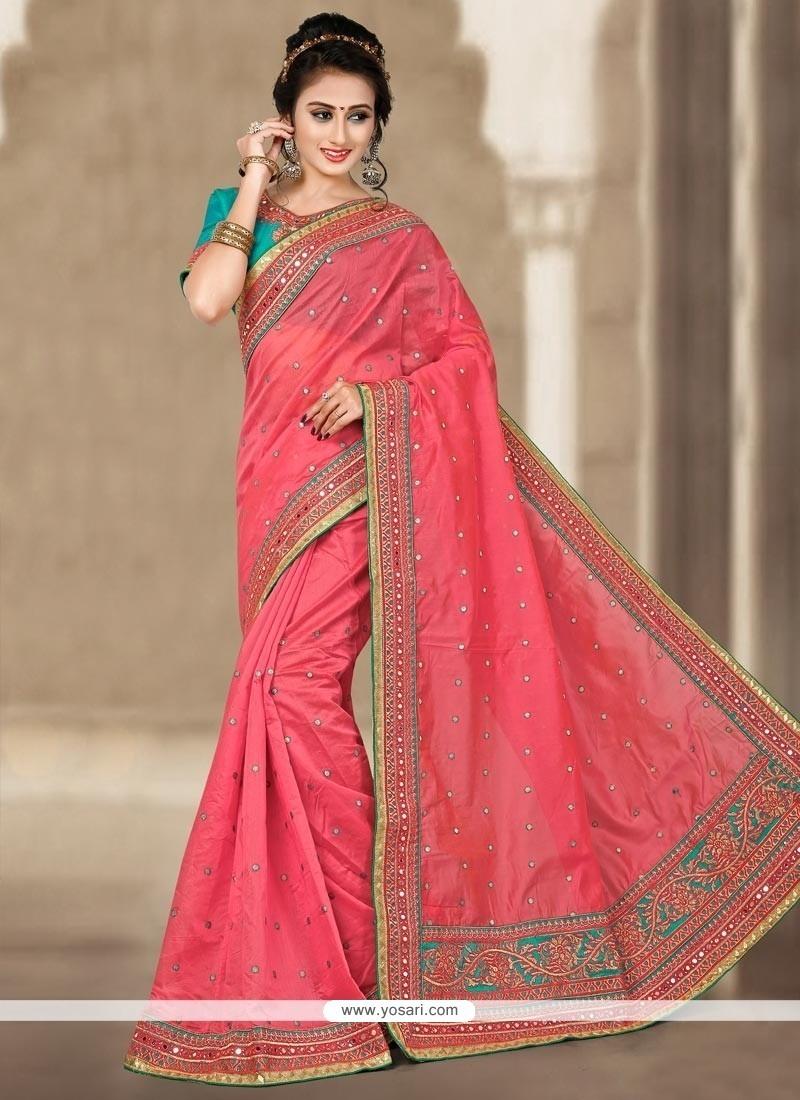 Gleaming Chanderi Traditional Saree