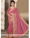 Fine Rose Pink Designer Traditional Saree