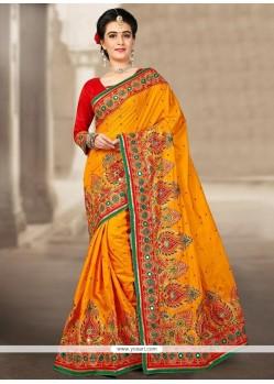 Majesty Manipuri Silk Resham Work Traditional Designer Saree