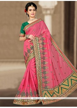 Sparkling Art Silk Zari Work Designer Traditional Saree